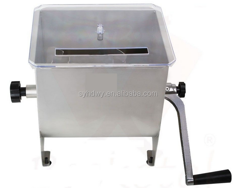 homemade stainless steel manual and meat grinder meat blender mixer