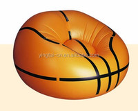 single basketball air sofa chair inflatable round sofa chair