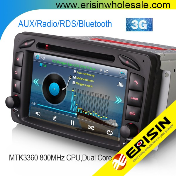 "Erisin ES7163B 7"" Touch Screen Car DVD Player GPS for Mercedes W203 S203"