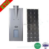 KTG ip65 euro garden lampada solare human induction lights solar street lighting all in one 40w with dimmer controller