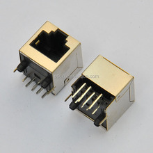 CAT6 RJ45 PCB socket 8P modular shielded jack
