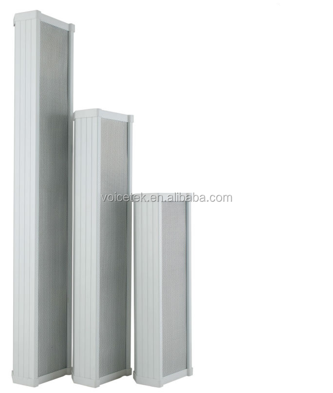 Aluminum Body White All-Weather Outdoor Column Wall <strong>Speaker</strong>