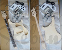 4 string unfinished Rik electric bass guitar kit