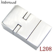 uncommon 11.5x4mm stainless steel square magnetic toggle clasp with backward holes and screws for watch jewelry buckles