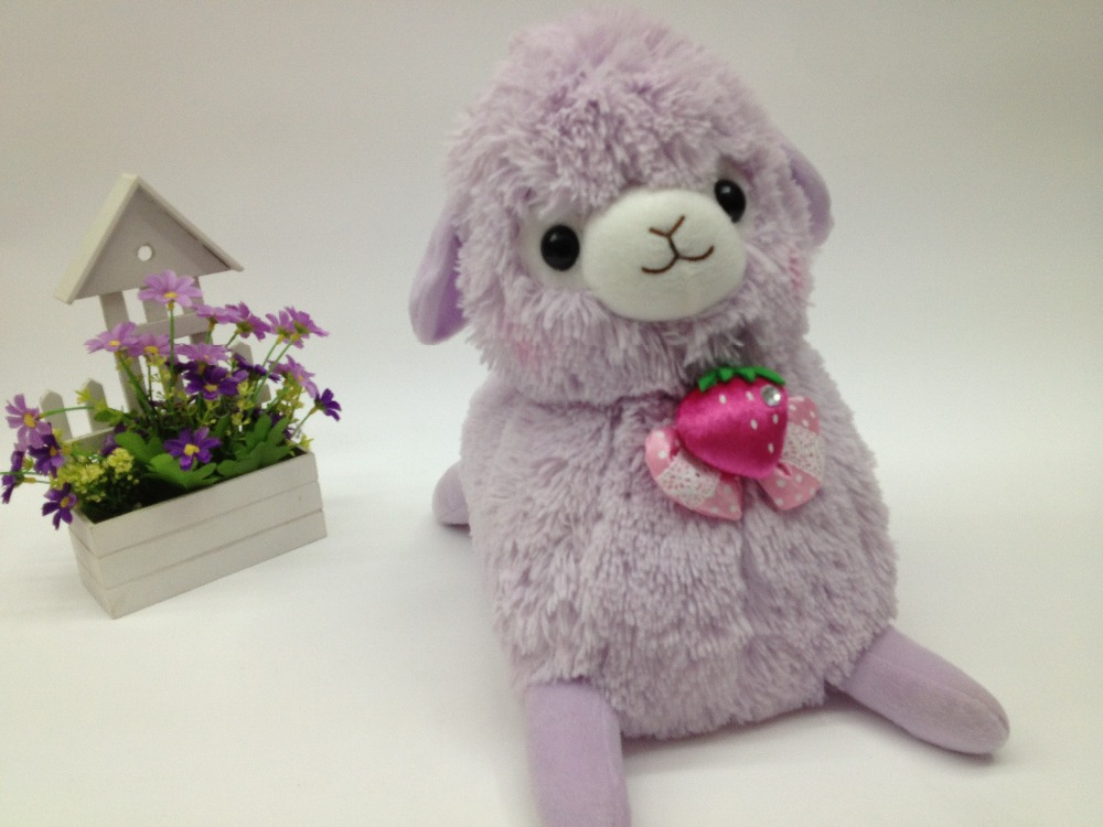 Wholesale purple custom stuffed animal, high quality plush sheep