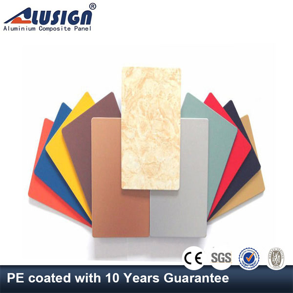 Alusign plastic exterior wall finishing material panels for bathroom decorative