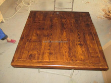 square indoor restaurant malt finish wood grain paper resin coated table top