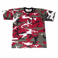 latest new design slim fit wholesale customized ladies pink camo t shirt