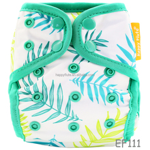 Happy flute waterproof PUL double gussets printed baby cloth diaper cover