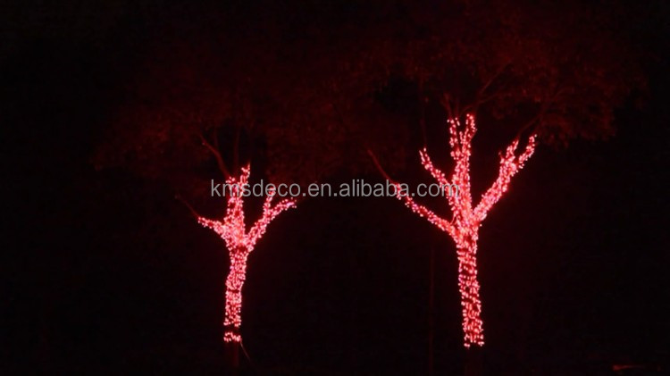 220-240v RGB outdoor rubber cable LED fairy lights connectable street tree christmas decoration