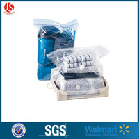 Biodegradable Feature and clothing packing Industrial Use 100 micros plastic resealable bag