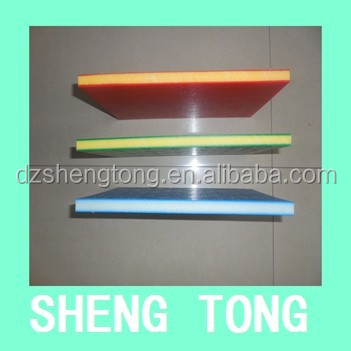 hard plastic board two color ,UV resistant hdpe two colored plastic sheet for children playground