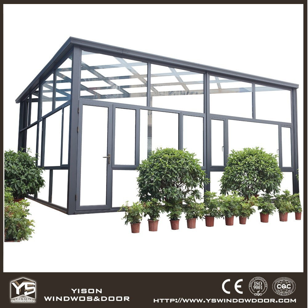 Super quality customizable heat insulation double low-E glass sun rooms for sale