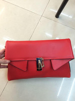 Women Red Blue Black Brown Genuine Leather Pouch Clutch Handbag Purses