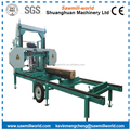 portable horizontal wood band saw with diesel engine