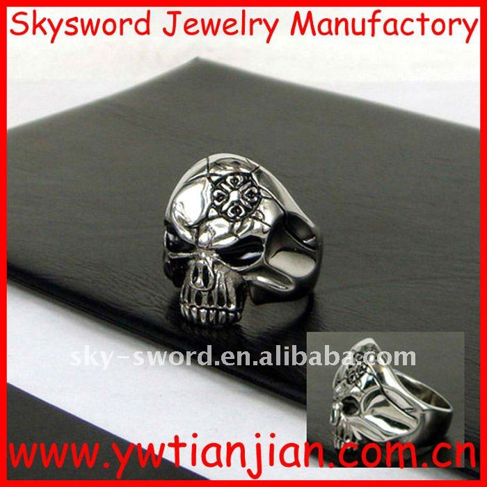 fashion stainless steel skull ring(SSR-315)