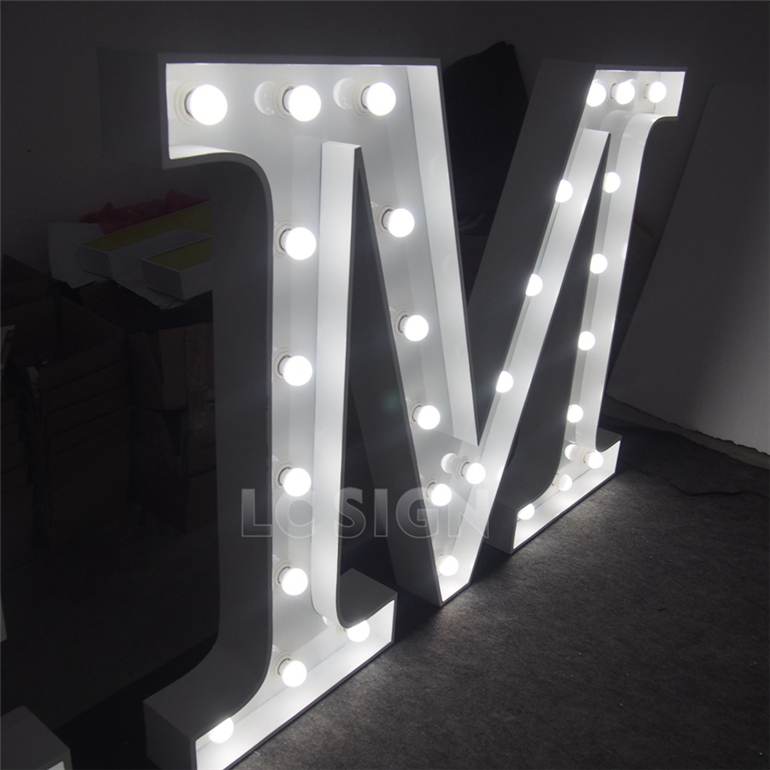 Waterproof LED Big Letter Sign For Christmas Holiday