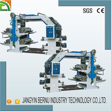 no woven paper plastic film four color flexo printing machinery