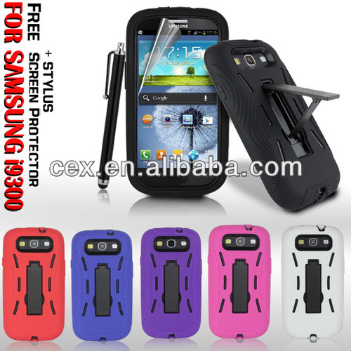SUPER HEAVY DUTY SHOCK PROOF STAND CASE COVER for SAMSUNG GALAXY S3 i9300