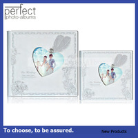 Perfect Photo Albums Heart Shape Diamond Glass Cover Wedding Album