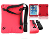 Outside using shoulder belt survivl silicone case for iPad air 1 2 soft tab bag
