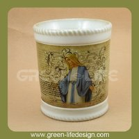 Vintage classic angel decal perfume oil burner
