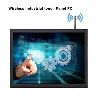 Industrial 15 inch all in one touch screen panel pc 1037 with fan 128G SSD