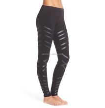 Womens Net Patch Compression Running Yoga Sports Fitness Gym Stretch Pants Exercise Leggings