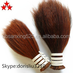 Straight Horse Tail Hair for Brushes natural color