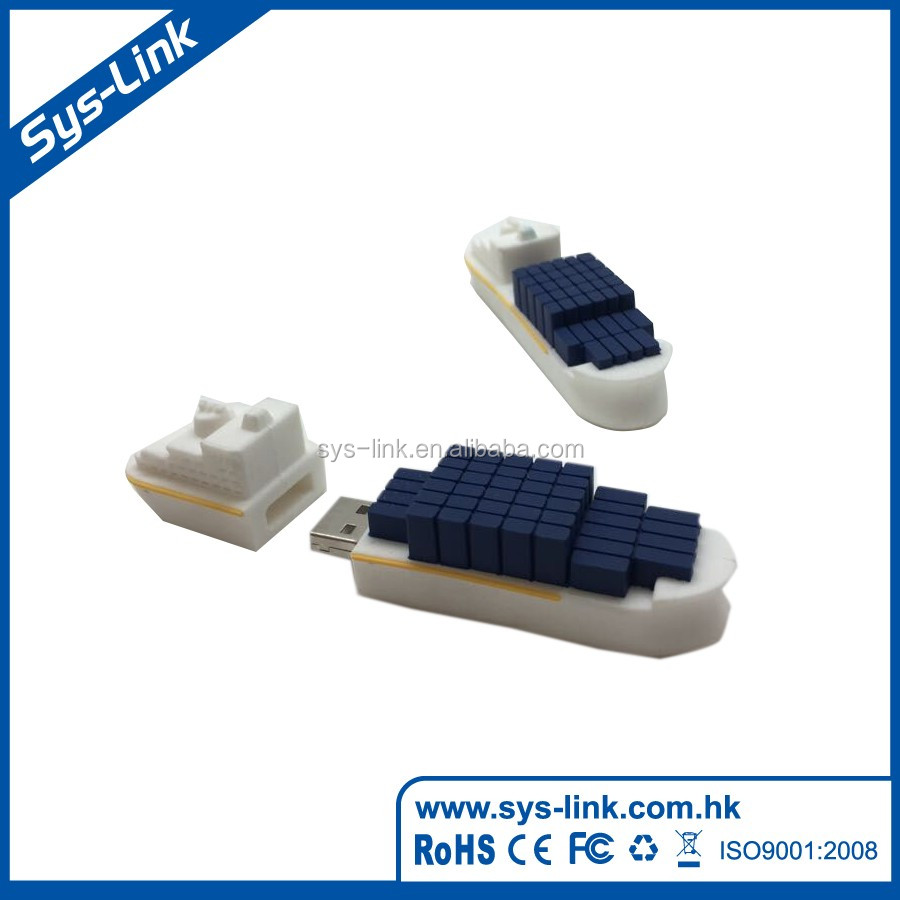 High quality soft pvc rotate usb flash memory