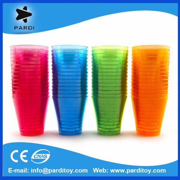 Event promo 2oz plastic disposable neon shot glass cup