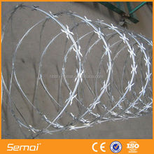 Security fencing cbt-60 razor barbed wire/safety razor wire
