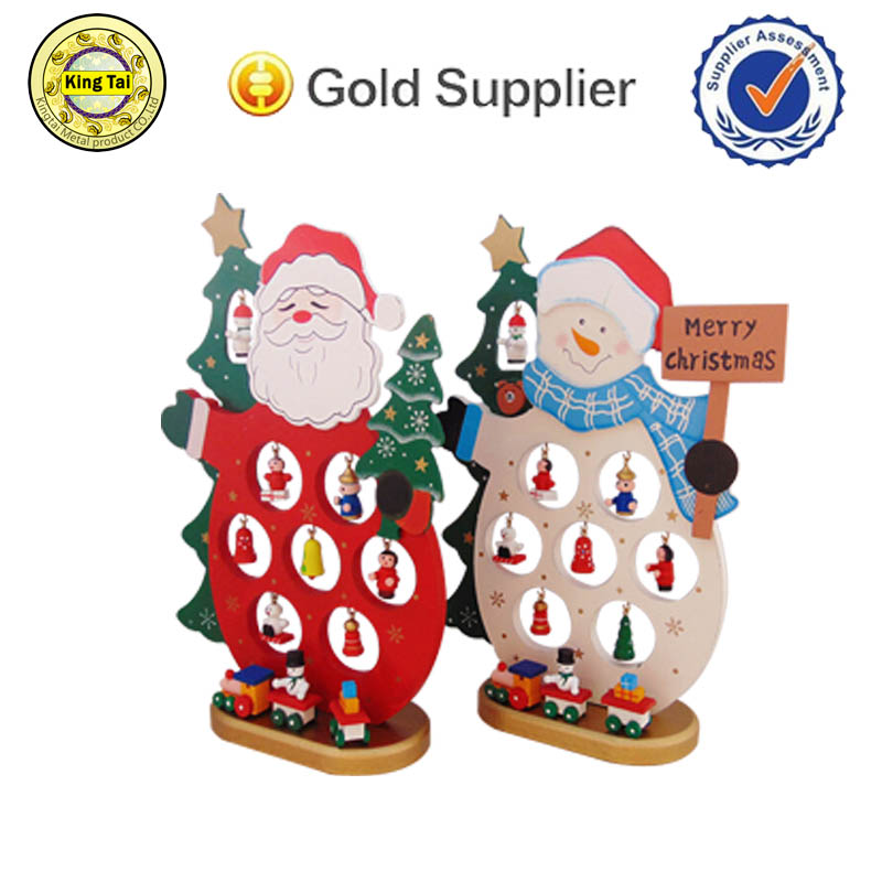 best selling wholesale nice gift christmas decor wood santa claus for sale