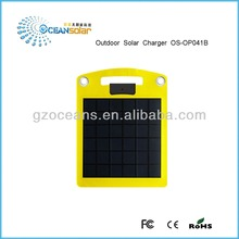 Outdoor solar charger OS-OP041B super convinent 4W portable panel mobile phone lithium battery charger