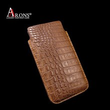 Genuine crocodile leather pouch case for iphone 6s