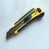 easy cutting stainless blade ABS handle utility knife