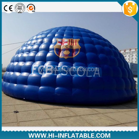 Multifunctional giant inflatable dome tent for outdoor activities