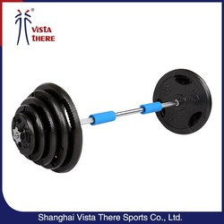 Cast Iron plate Barbell Weight Lifting Set For Sale