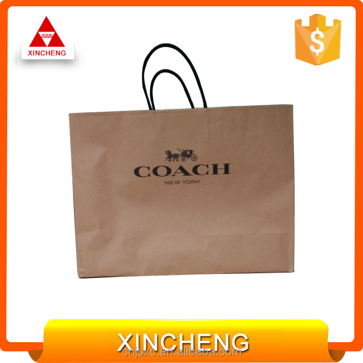 Oem Wholesale Custom Printed Brown Paper Gift Bag For shopping