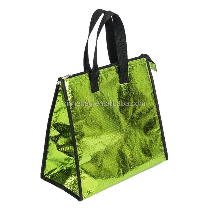 Wholesale croc. pattern non woven tote insulated lunch bag
