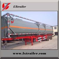 Tri axle heavy duty fuel tanker / oil truck semi trailer dimension optional