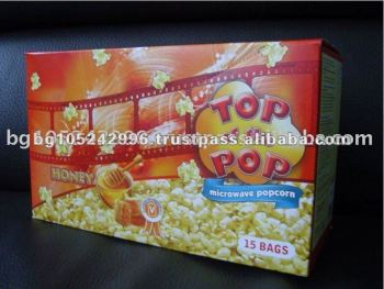 Display Box Honey Microwave Popcorn