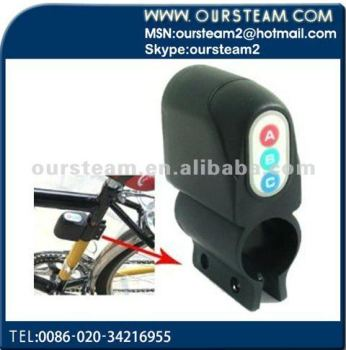 Bike Bicycle Security Alarm 110dB Audible Sound Lock