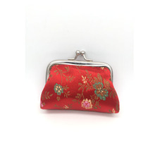 hot sale colorful chinese silk hasp mini coin purse