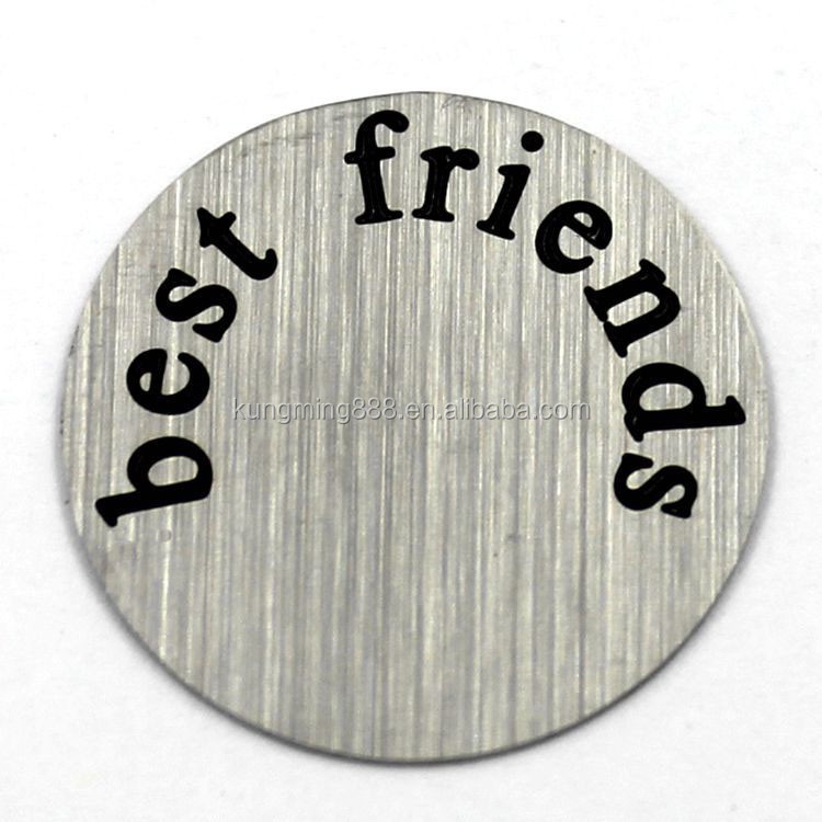 22mm Silver Round Best Friends Plate Fit Origami Owl Memory Locket