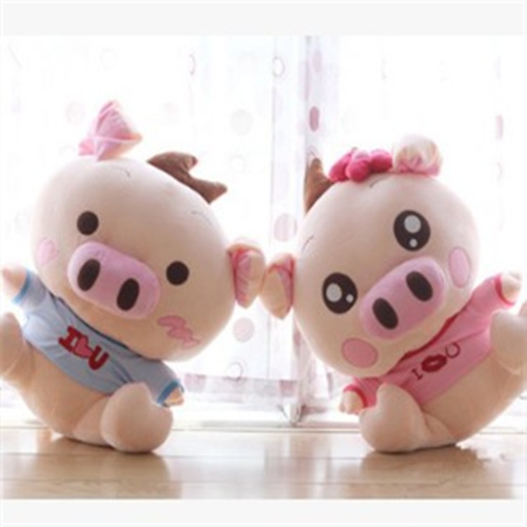 Custom small sizes pp cotton adorable soft pig shaped plush toy for girl
