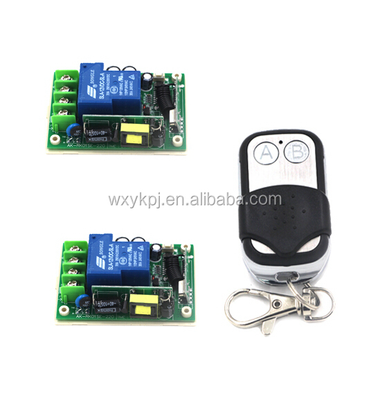 High Quality AC 85V-250V 30A 1CH RF Wireless Relay Remote Control Switch 315 MHZ 433 MHZ 1 Transmitter+2 Receiver