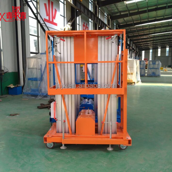 double mast aluminium building cleaning lift for sale