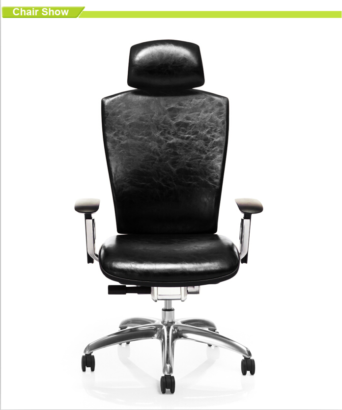 Modern Office Furniture High Back Swivel Leather Office Chair For Executive W
