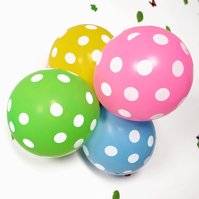 2017 wholesale printable polka dot balloons